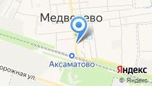 Медведевский на карте
