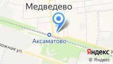 Детская библиотека пос. Медведево на карте
