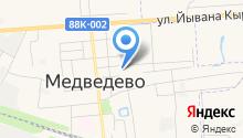 Медведевская гимназия на карте