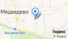 Медведевская средняя общеобразовательная школа №2 на карте