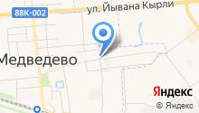 Автомойка на ул. Медведево на карте