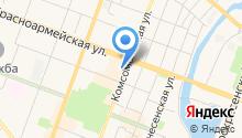 Янтарное диво на карте