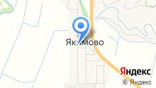 Якимовский фельдшерско-акушерский пункт на карте