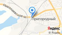 Автостоянка на Николаевском шоссе на карте