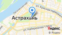 Центральная коллегия адвокатов Астраханской области на карте