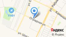 Автостоянка на Отрадной на карте