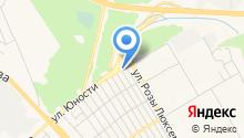 Автомойка на ул. Юности на карте