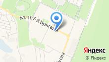 Магазин нижнего белья и колготок на ул. 107 Бригады на карте
