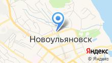 Новоульяновская городская библиотека на карте
