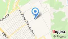 Автостоянка на ул. Любови Шевцовой на карте