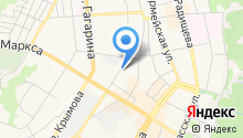 Автостоянка на ул. Марата на карте