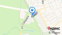 Шиномонтажная мастерская на ул. Гайдара на карте