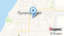 Луначарск, ЗАО на карте