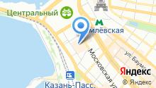 Button Blue на карте