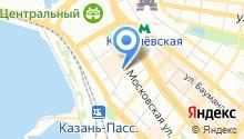 1 городское такси на карте