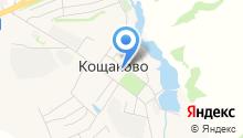 Продуктовый магазин на Школьной на карте
