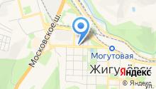 Баня на Приволжской на карте