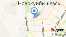 Управление пенсионного фонда РФ в г. Новокуйбышевске на карте