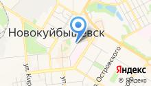Территориальное общественное самоуправление №1 г. Новокуйбышевска на карте