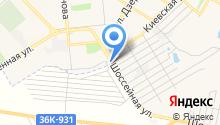 Автостоянка на ул. Строителей на карте