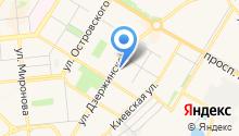 Продуктовый магазин на ул. Дзержинского на карте