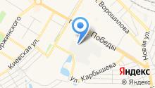 Автостоянка на проспекте Победы на карте