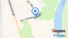 Ассоциация садоводческих товариществ Эжвинского района на карте