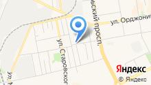Автостоянка на ул. Оплеснина на карте
