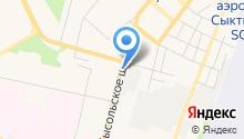 Ателье по ремонту и пошиву одежды на Сысольском шоссе на карте