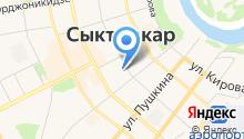 Дом дружбы народов Республики Коми, ГАУ на карте
