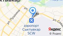 Сыктывкарская транспортная прокуратура на карте