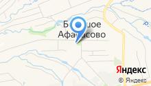 Большеафанасовская средняя общеобразовательная школа на карте