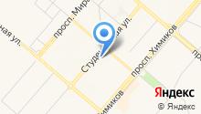 Автостоянка на Студенческой на карте