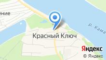 Красный Ключ на карте