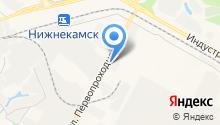 Автостоянка на ул. Первопроходцев на карте