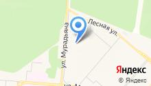 Автостоянка на ул. Мурадьяна на карте