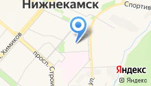 Бюро архитектурного планирования и градостроительного кадастра города Нижнекамска, АНО на карте