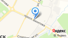 Автостоянка на проспекте Вахитова на карте