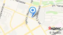 Голубой на карте
