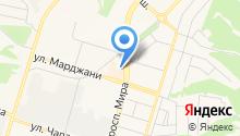 Магазин постельных принадлежностей на ул. Марджани на карте