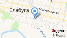 Управление государственного Пенсионного фонда Республики Татарстан в г. Елабуге на карте