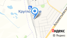 Ульяновская дистанция электроснабжения на карте