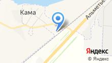 Кама-Нижнекамск на карте