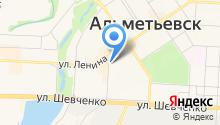 Консультационный пункт адвокатской конторы №1 г. Альметьевска на карте
