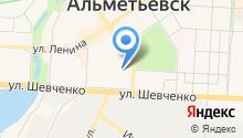 Альметьевская на карте