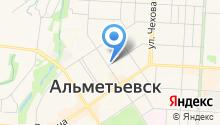 Альметьевский детский дом на карте