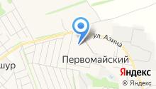 Библиотека поселка Первомайский на карте