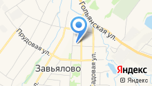 Речной на карте