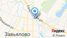 Завьялов-водоканал на карте