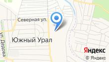 Оренбургская на карте